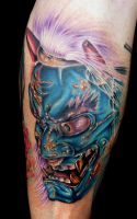 oni mask by tat2istcecil