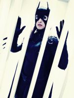 Armoured Batgirl Cosplay - Behind Bars 2 by ozbattlechick