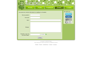 My website layout by Epoc22