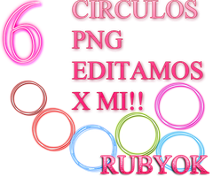 PACK CIRCULOS PNG by rubyok