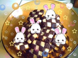 bunnies on my cookies by abigzz