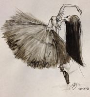 Ballerina Ink by psycho23