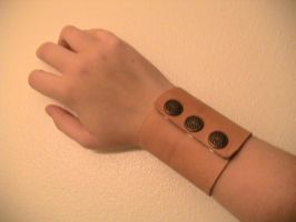 Leather Cuff - First :WIP: by Blackethouse
