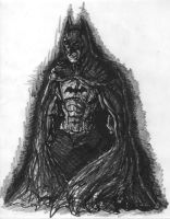 Batman Black and White by sebatman