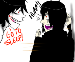 Jeff The Killer and Mikael-Every Damn Night. by MikaelBratLoni