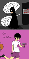 BATCAVE MISHAP by FanGirlNoseBleeds