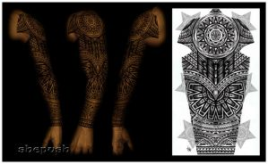 tribal full sleeve by shepush