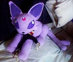 Crochet Baby Espeon (3ds photo) by ArtisansShadow