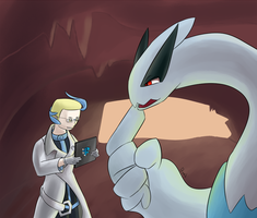 Colress and Lugia Request by prankster-kun