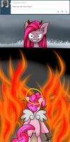 Ask Innocent Pinkie: Attack On Pinkie by WolfyOmega