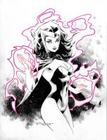 2nd Scarlet Witch Commission by aethibert