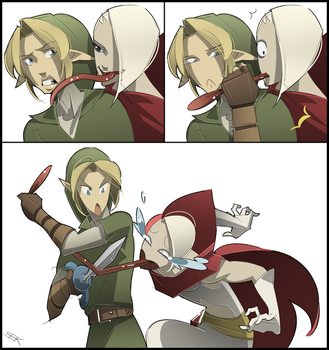 Link Got Your Tongue by WhiteFoxCub