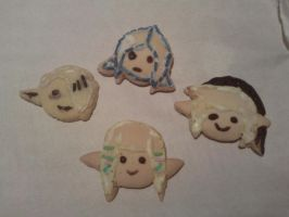 Skyward sword cookies x3 by Evomanaphy