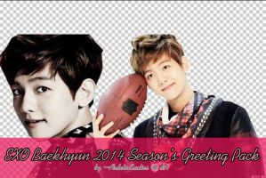 BAEKHYUN 2014 Season's Greeting PNG Pack [2 PNG's] by ArdeliaExotics