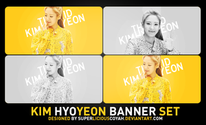 Kim Hyoyeon Banner Set | 300 x 150 | Rounded Edges by superaliciouscoyah