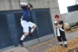 Sasuke Vs. Gaara II by ElliotCosplay