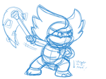 Ludwig pose practice by SuperKoopaTroopa