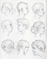 Profile Study Sketches by Tvonn9