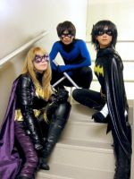 Nightwing, Batgirl, BlackBat by Animeredkid0