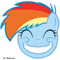 Grinning filly Dash by SirSpikensons