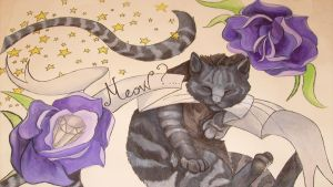 The Cat and the Rose by X-x-Magpie-x-X