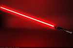 Red Lightsaber by Raju7