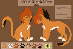 Twins Ref-Sheet by NaLa-aka-Umka