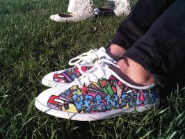 Hand painted Customized Shoe by Vermillioned