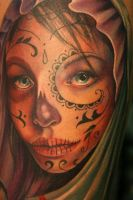 Day of the Dead Girl Detail by Phedre1985