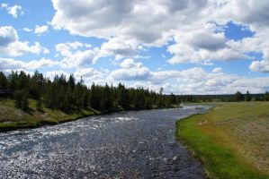 Firehole River by bowtiephotography