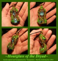 Hourglass of the Dryad - handsculpted Pendant by Ganjamira