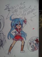lucky star: this is the finger that'll pierce the- by missesvongola