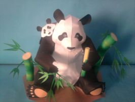 panda papercraft by rafex17