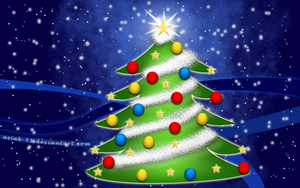 Christmas tree wallpaper by asiak-91