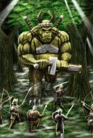 Giant Troll Versus Guys with Swords by Iggy452001
