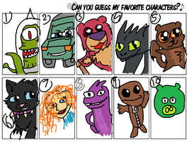 Can you GUESS my Favourite characters by MiddyLPS