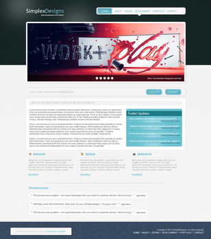 Web2.0 Design Agency Layout 2 by CameronLayfield