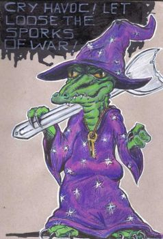 Lizard-wizard by wretched-ink