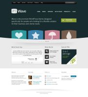 Homepage template for corporate website (PSD) by DuckFiles