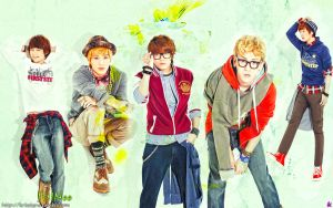 Shinee - feeling green by Sweetkrystyna