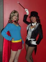 Supergirl and Zatanna by Ave606