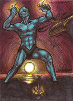 Dr. Manhattan + Watchmen by Viethra-Schepherd