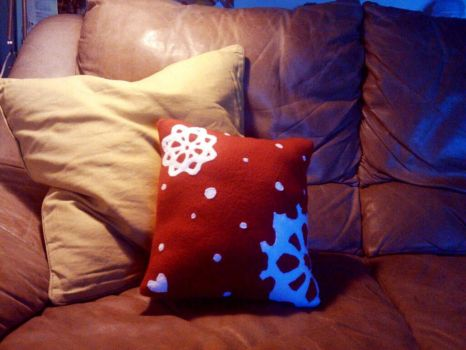 Snowflake pillow by mci021