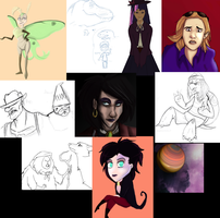 You have some sketchdump on your face by ImprobableCarny