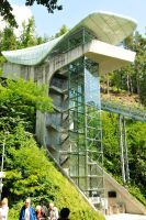 Funicular railway station 1, Innsbruck by wildplaces