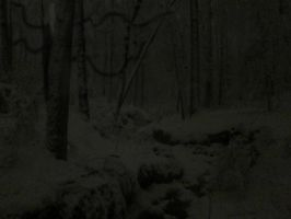 Slenderman in Snow by quofomo