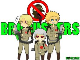 BRO BUSTERS - Hetalia Canada Prussia and Denmark by PuriPuddingChan