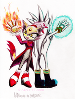 Blaze + Silver by theOrangeSunflower