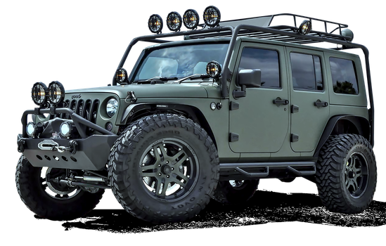 Military Jeep png stock by srinivascreations
