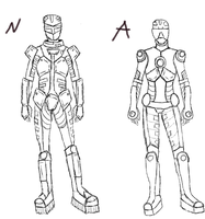 Suit Model Sketches by ShikyoMegami